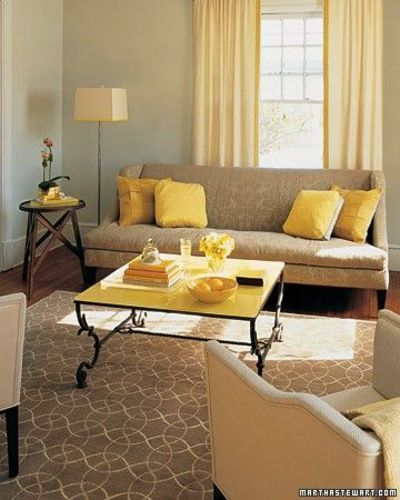 Martha Stewart Gray And Yellow Living Room For The Home Juxtapost