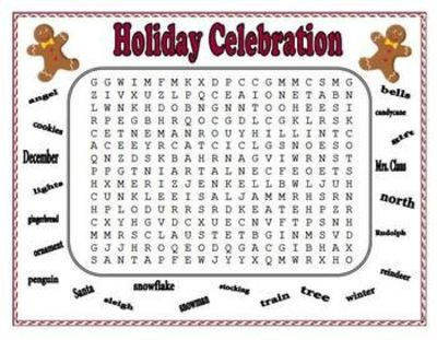 5 FREE Christmas word puzzles / school planning - Juxtapost