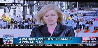 She's waiting for Obama in her