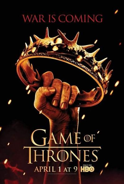 """""""War Is Coming"""": Game of Thrones season 2 poster."""