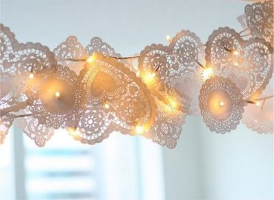 Valentine's light garland