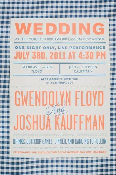 Graphic Picnic Style Wedding Invitations Shot By Mango Studios