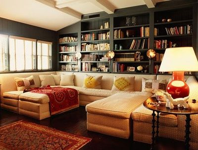 love the huge sectional with oversized ottomans