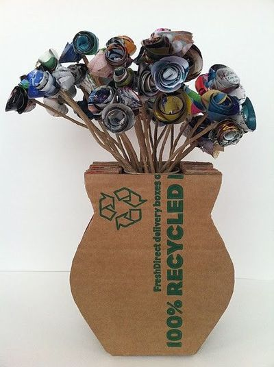 From Cardboard Box To Flower Vase Cool Papercraft Juxtapost