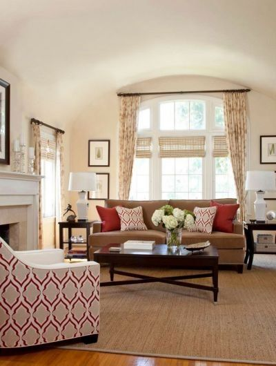 Living Room Ideas Neutral Color Scheme With Nice Pops Of Red For The Hom
