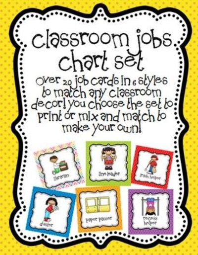 Classroom Cleaners Design ~ Preschool job chart labels related keywords