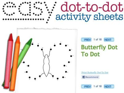 Easy dot to dot printables: dot to dots help with rote count ...