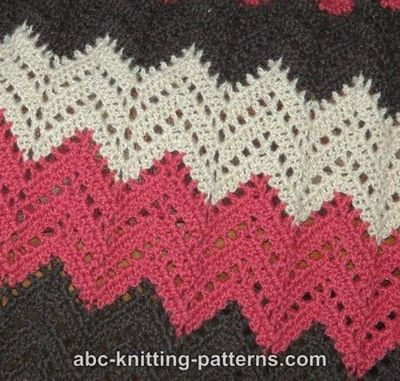 Double Crochet Ripple Baby Afghan Pattern : Free Ripple Afghan Crochet Pattern / crochet ideas and ...