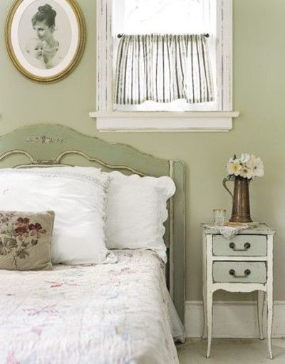 old fashioned green bedroom soft green paint distressed vin for