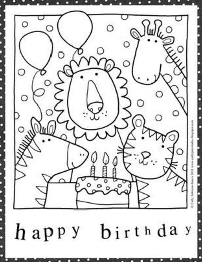 Free Birthday Coloring Pages Preschool Items Juxtapost