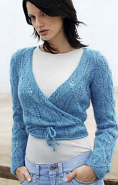 Knitting Pattern Wrap Over Cardigan : Wrap Around Top by Lana Grossa---Free Patterns / Knits and stitch - Juxtapost