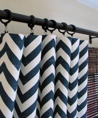 navy chevron curtains for the home juxtapost