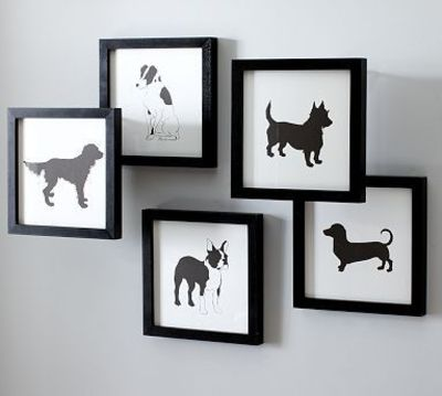 dog silhouette DIY