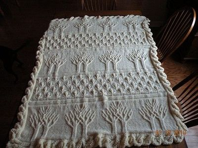 Twin Tree of Life Afghan by lionbrand as adapted by auburnch ...