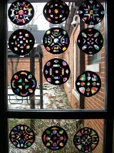 Stained Glass Paper For Windows Stained Glass Windows Paper