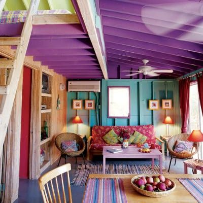 Turquoise And Purple Bedroom