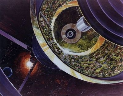 Retro NASA Space Colonies