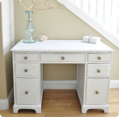 shabby chic white desk for computer porch window right. Black Bedroom Furniture Sets. Home Design Ideas