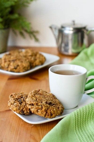 "Carrot Cake Breakfast ""Cookies"" - I wonder if I could sub the whole wheat flour with coconut/almond meal blend?"