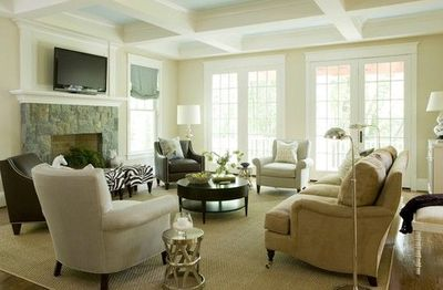 Tv Above Fireplace Furniture Placement