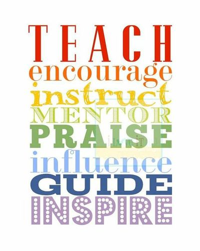 teach encourage inspire subway art poster print by