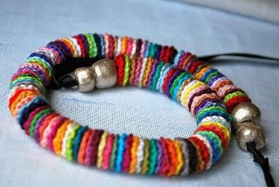 crochet bracelet-I don't think I will ever be able to make something like this, but I will pretend that one day I might!