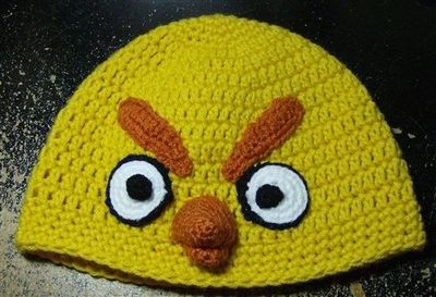 Free Crochet Yellow Angry Bird Hat Pattern. / crochet ideas and tips - Juxtapost