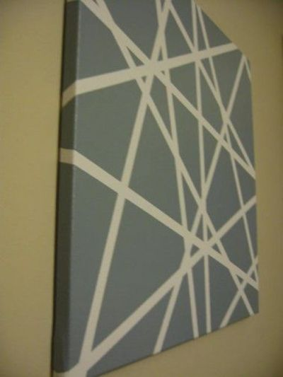 Canvas masking tape spray paint ridiculously easy but for Spray paint designs with tape