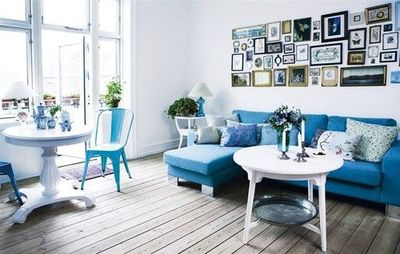 Navy Blue Turquoise Aqua White / Photographs / Living Room / Bedroom / Tia  Borgsmidt Part 47