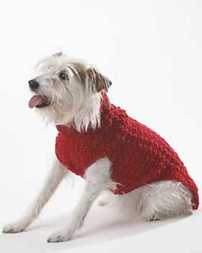 Free Pattern Crochet Dog Jacket : Free Crochet Dog Sweater Pattern. / crochet ideas and tips ...