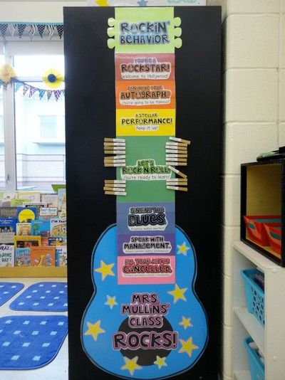 Cute Guitar for a CLASS Behavior Chart.