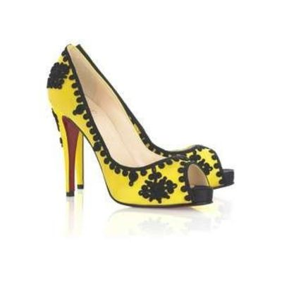 Black and yellow heels / For College - Juxtapost