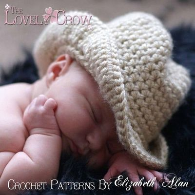 Cowboy Hat Crochet Pattern Baby For Boot Scootn Cowboy Knits
