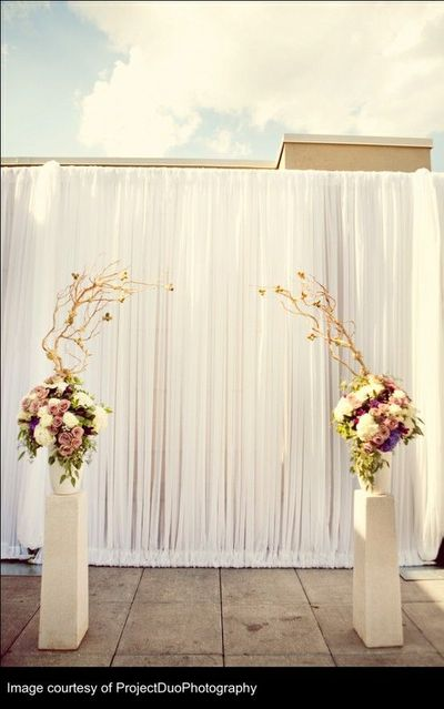 backdrop ceremony backdrops church decorations flowers simple altar weddings manzanita background reception arch pvc stand table decoration pipe elegant ceremonies
