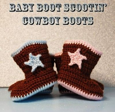 Crochet Baby Boot Scootin Cowboy Boots Definitely Need Thes
