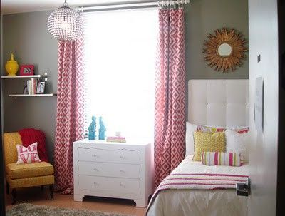 Beautiful kids room gray pink and yellow