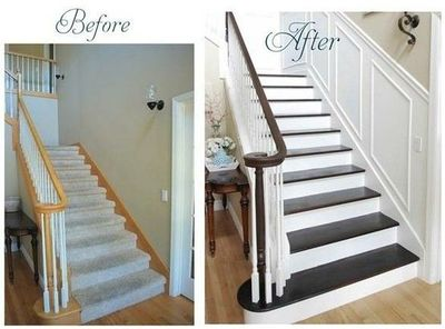 Bon Wainscoting Up The Stairs...totally Going To Do This. Love The Look