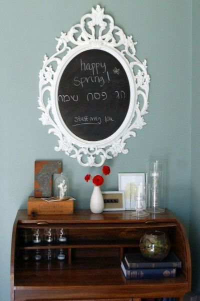 Ikea ung drill frame turned into chalkboard for the home for Miroir ung drill
