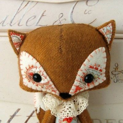 woodland fox pattern #craft #toy #DIY #fox