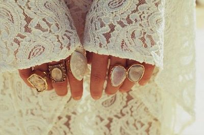 crystal druzy rings