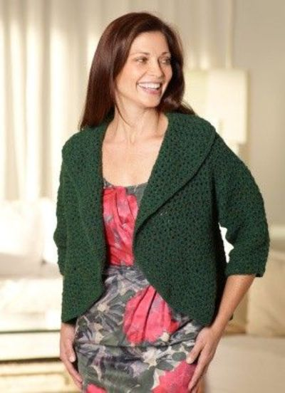 Free Crochet Circular Bolero Patterns : Free Crochet Pattern: Circular Shrug / crochet ideas and ...