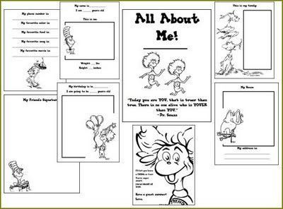 picture regarding All About Me Free Printable titled Dr. Seuss all regarding me free of charge printable / college creating