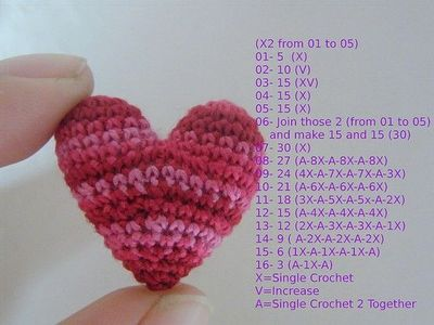 Crochet A Heart : small crochet heart pattern Car Tuning