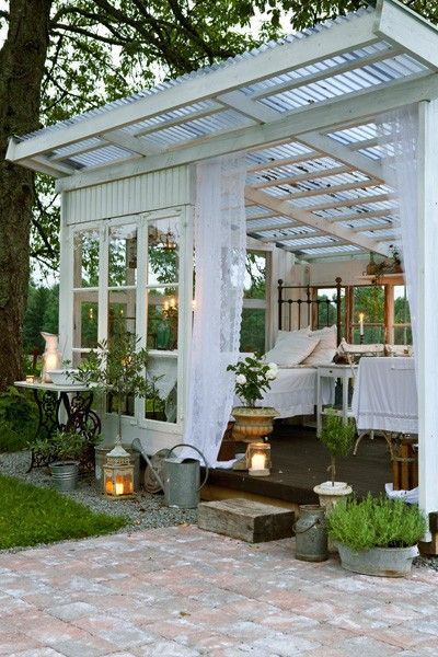 A detached bedroom or sunroom or greenhouse so perfect for Detached sunroom