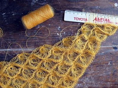 Crochet Variant Of Broomstick Lace Made With Goat Hair And A