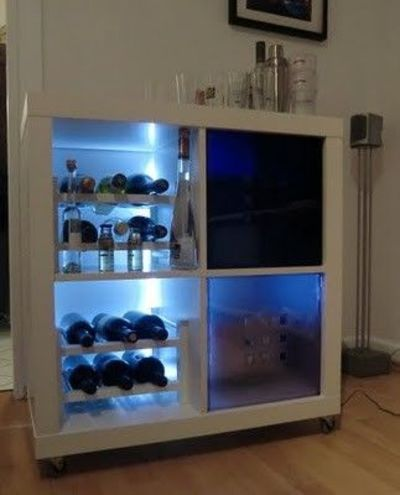 Ikea hack mini bar for my kitchen juxtapost for Meuble aquarium ikea