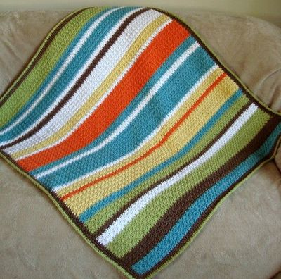 Crochet blanket with Random Stripe Generator, way cool / knits and kits - Jux...