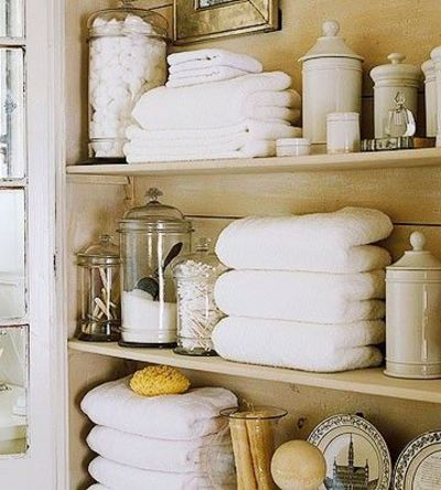 Guest Bath Stocked With Apothecary Jar Accessories Bath