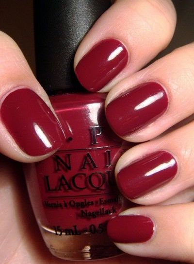Dark Red Nails Nails Juxtapost