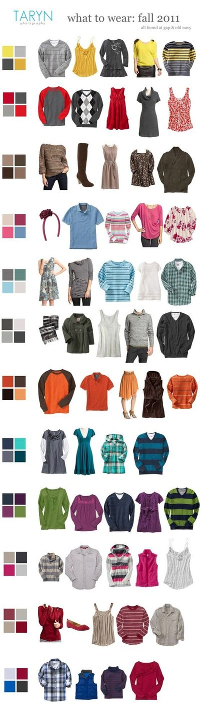 fall 2011 color palette for family portraits great photos juxtapost. Black Bedroom Furniture Sets. Home Design Ideas